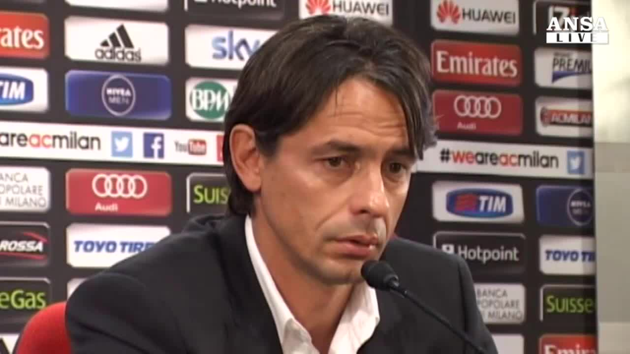 """Inzaghi: """"Presto per giudicare il Milan"""""""