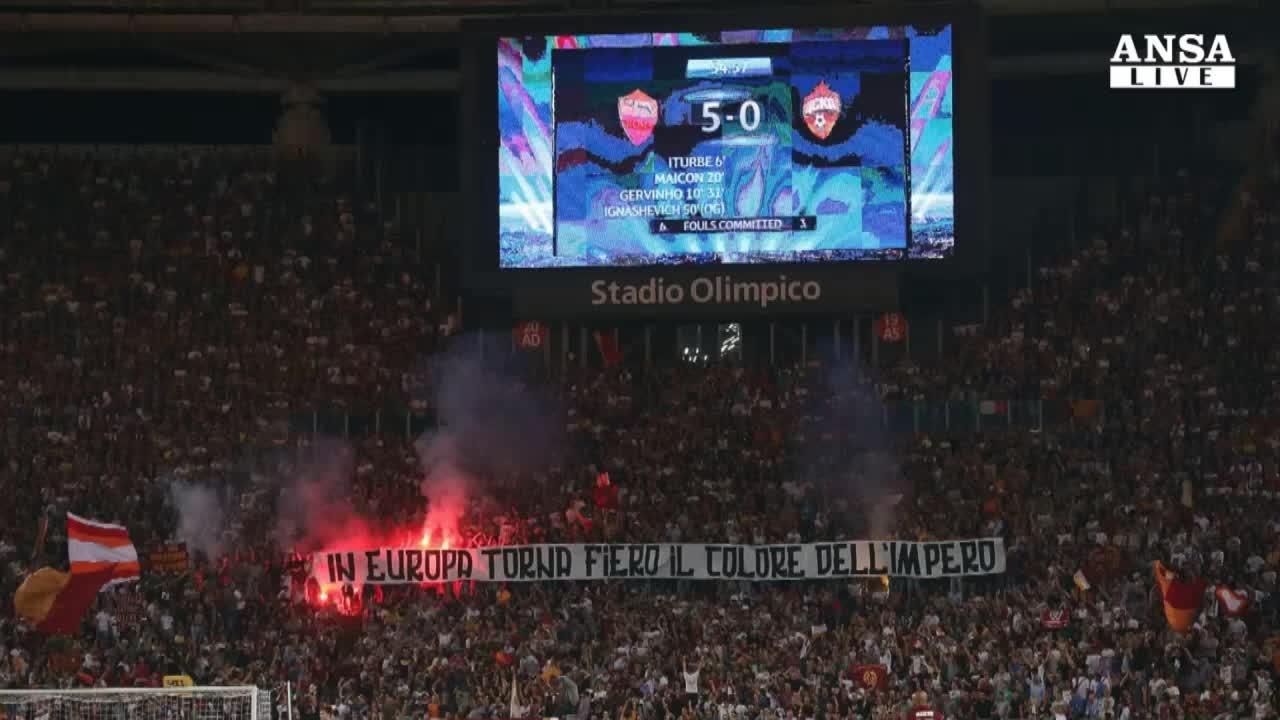 Roma torna in Champions con 5 goal