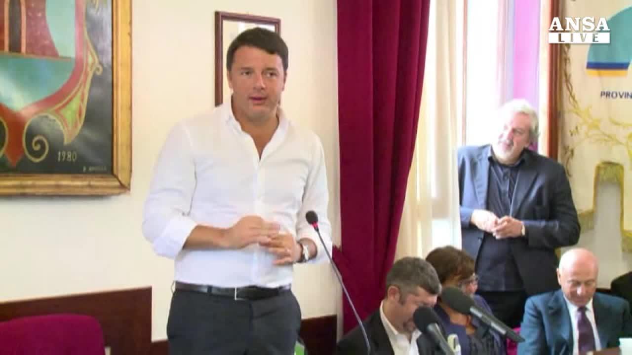 Renzi: sul lavoro cambio davvero
