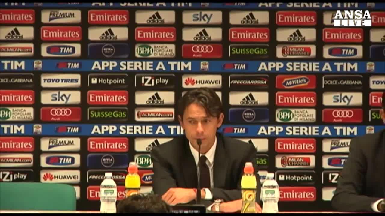 """Inzaghi: """"Ma Berlusconi e' contento"""""""