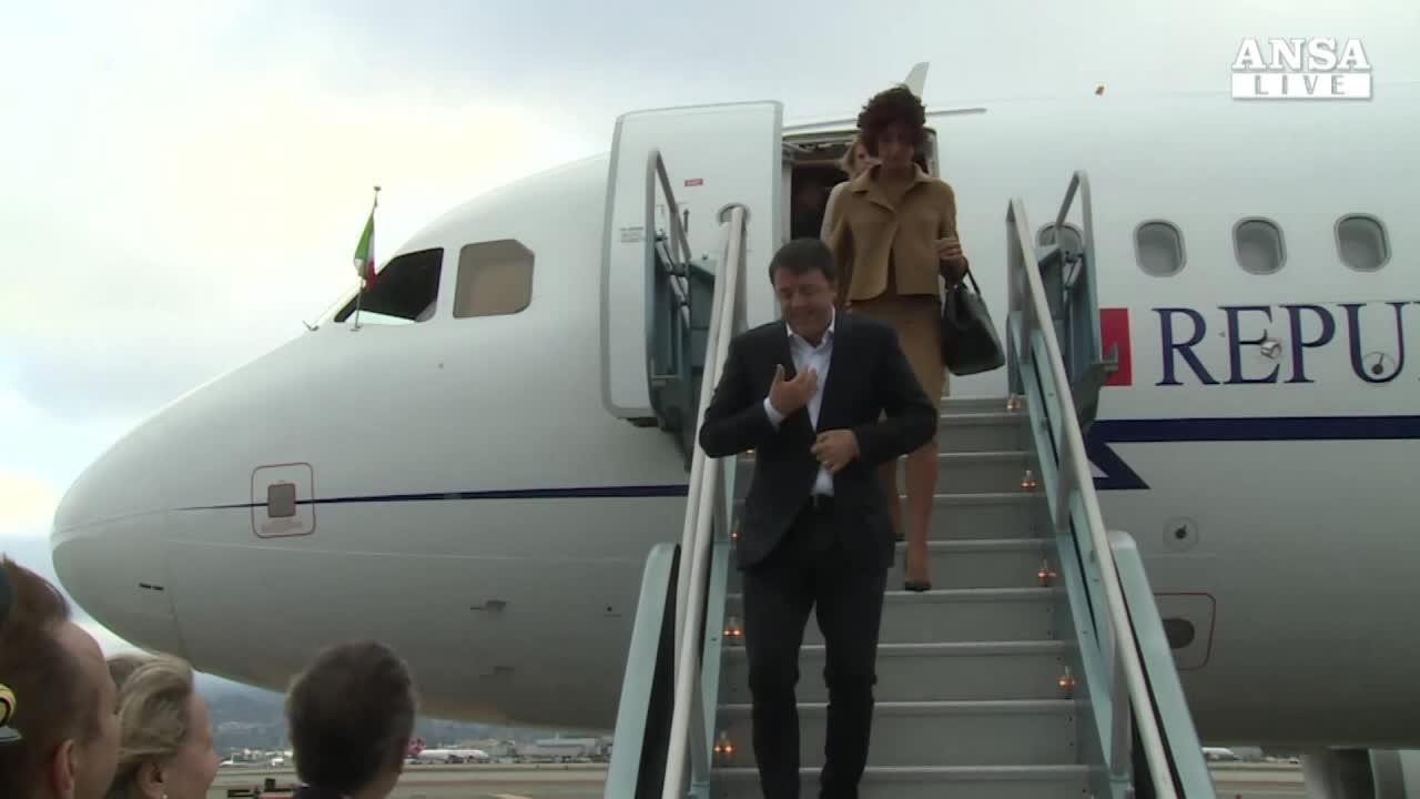 Renzi negli Usa, arrivato a San Francisco