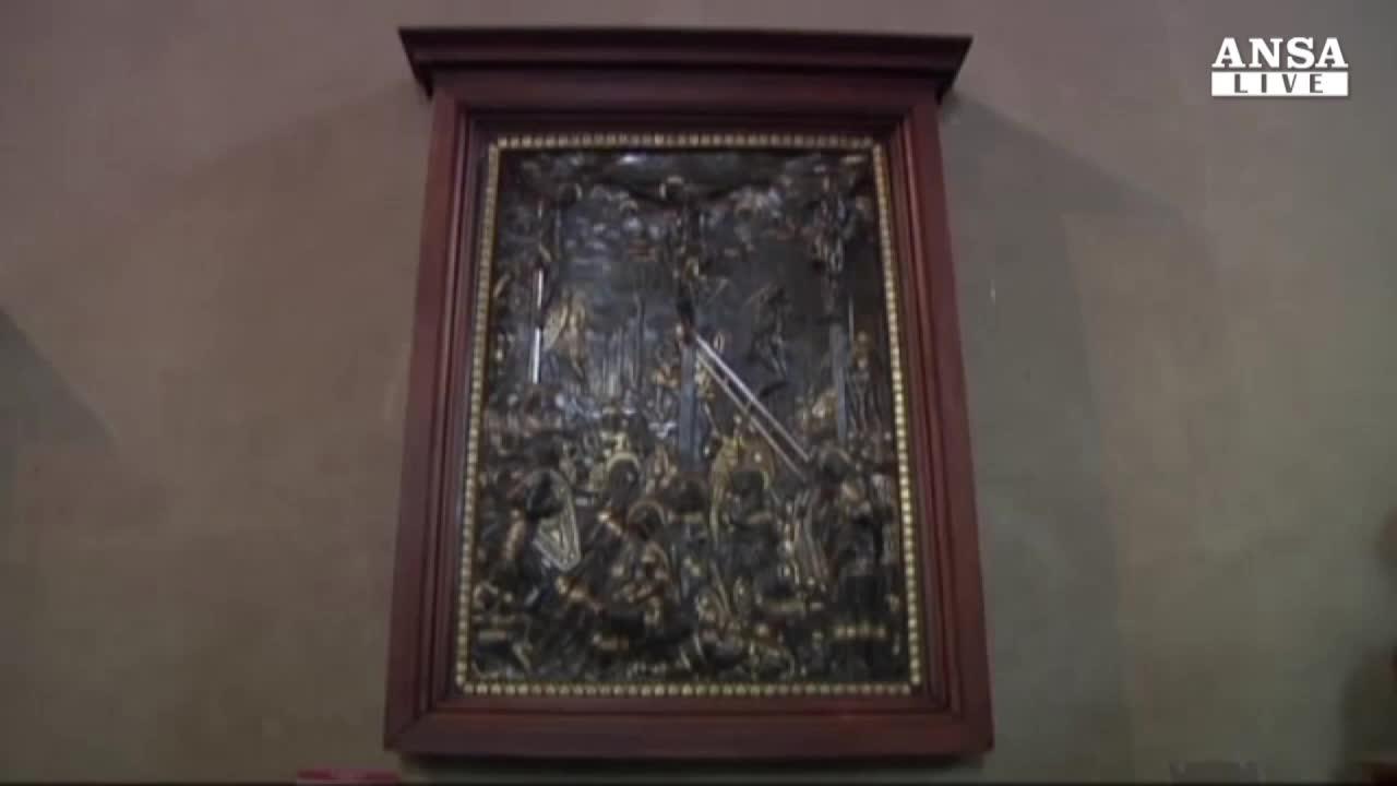 Restaurato bronzo Crocifissione Donatello