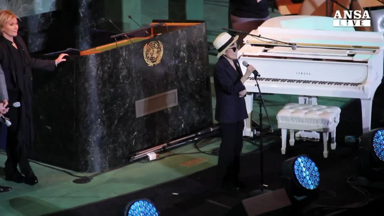 Yoko Ono lancia #Imagine per diritti bambini